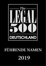The LEGAL 500 Deutschland - Führende Namen 2019